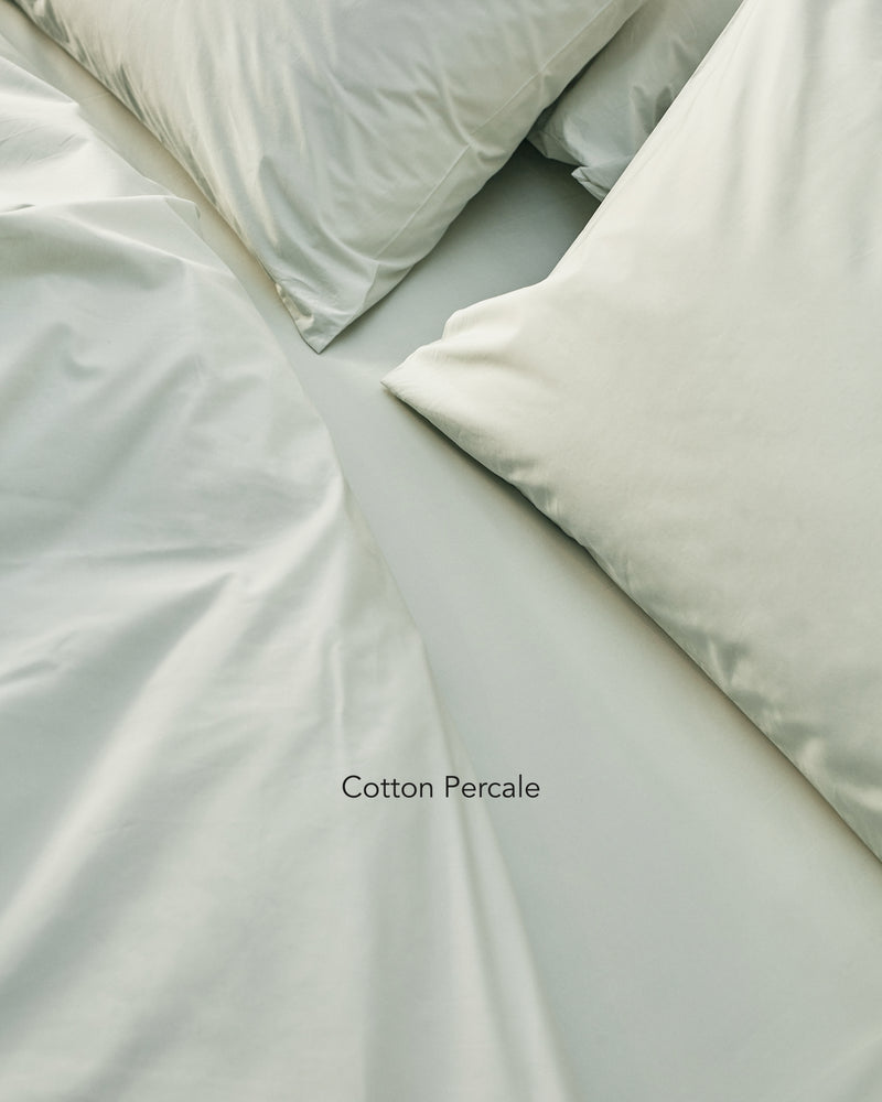 light green cotton percale bedding texture