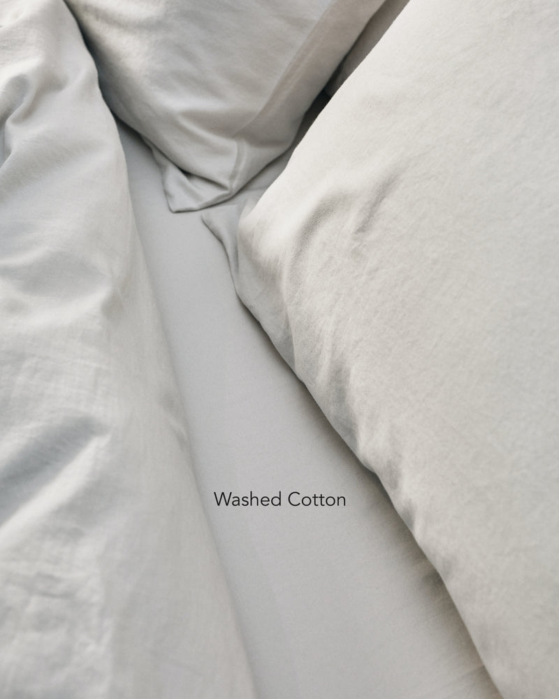 light grey washed cotton bedding texture