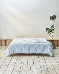 light blue cotton duvet cover