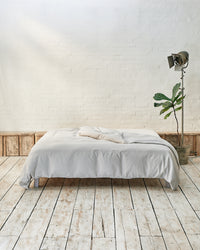 light grey cotton duvet cover