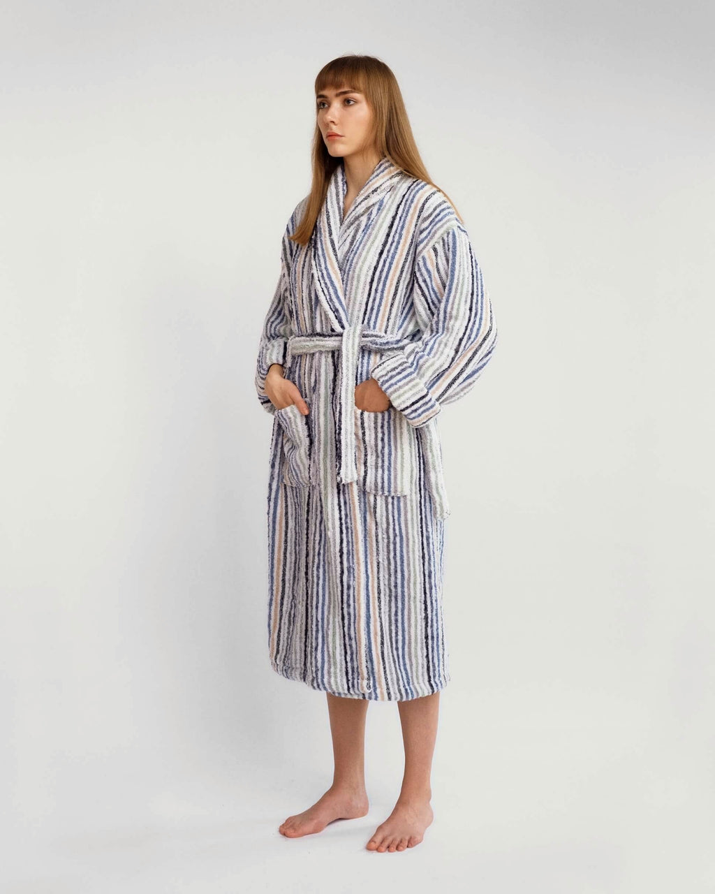 Multi Striped Bathrobe
