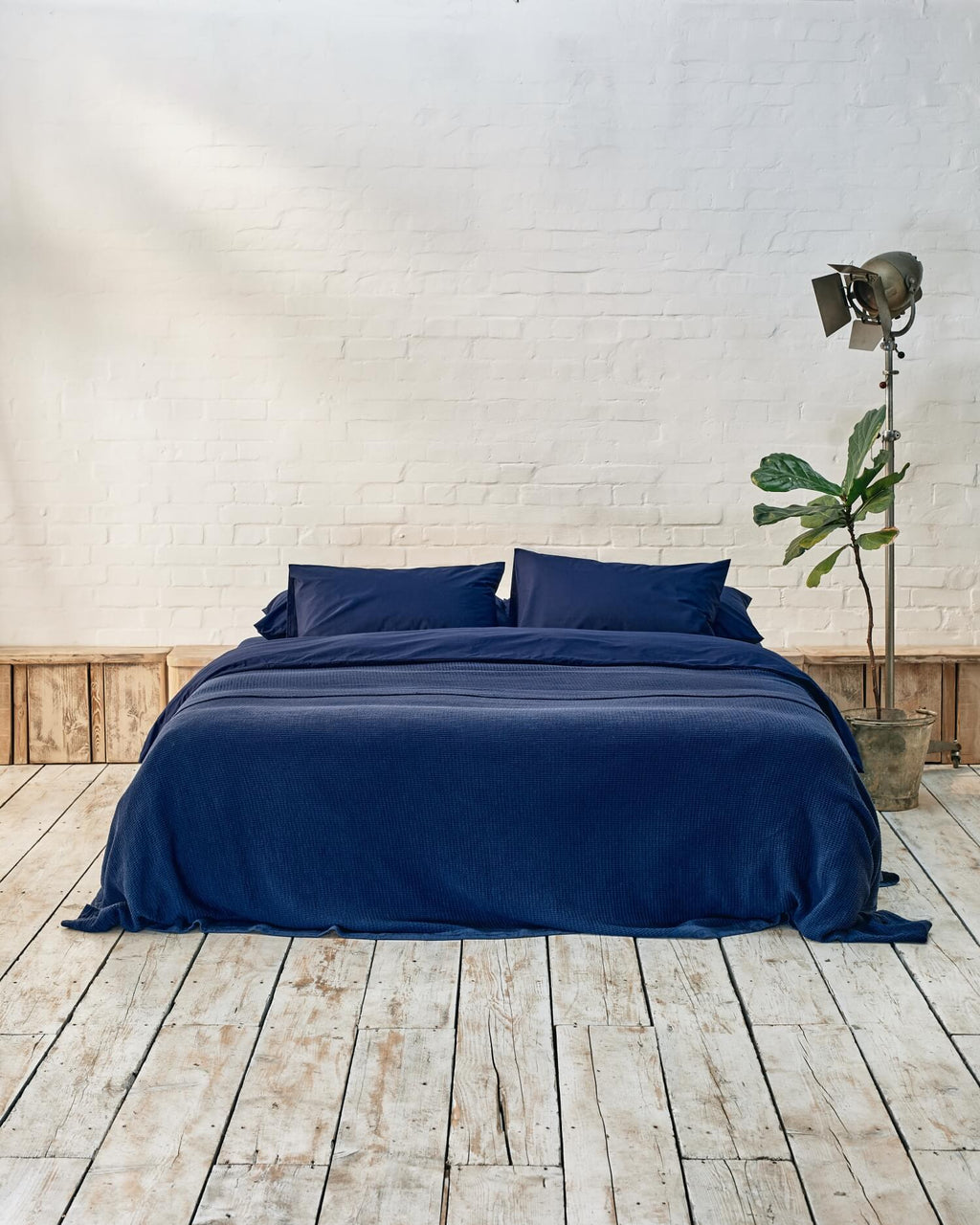 Navy Luxe Bedding Set