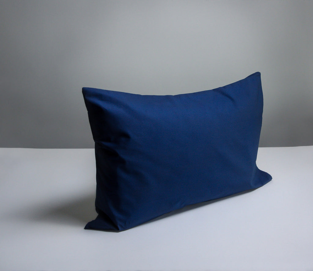 navy pillowcase pair