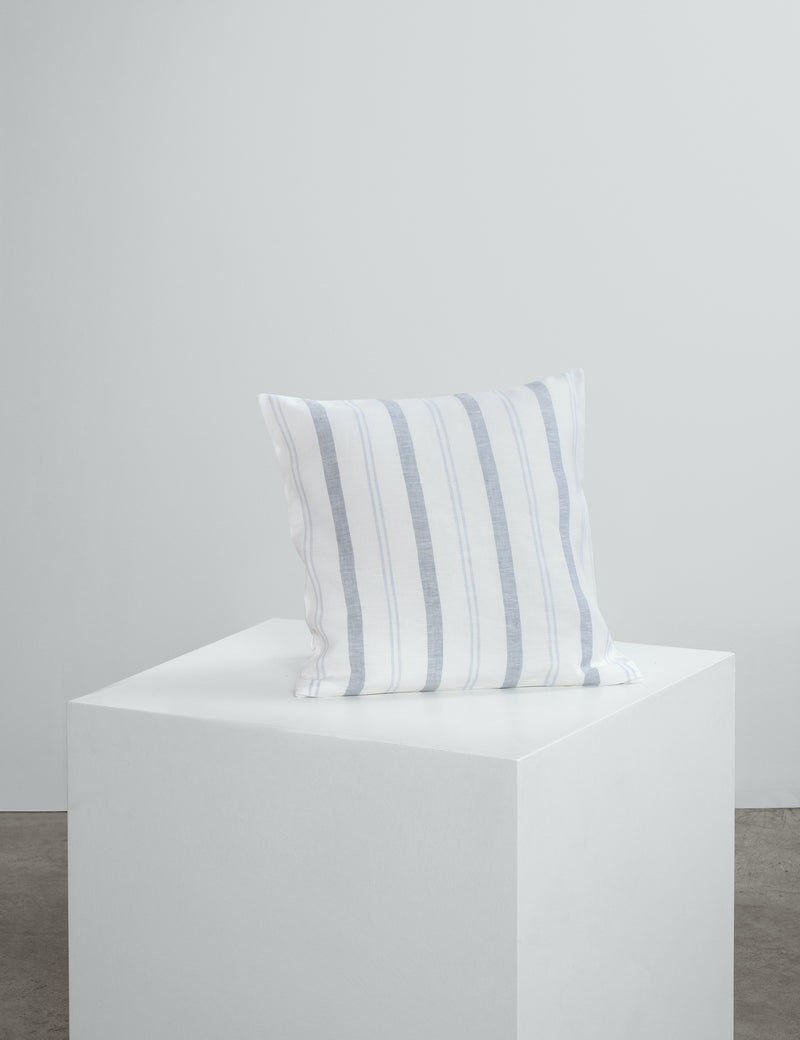 Navy Striped Linen Cushions