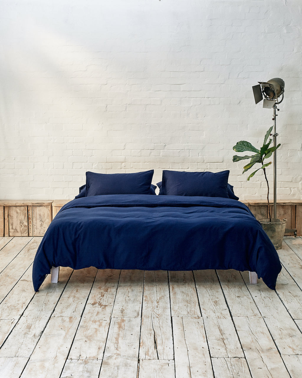 Navy Bedding Set