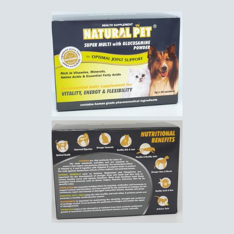 Natural Pet Super Multi with Glucosamine (in sachets or tablets) - ShopFawU