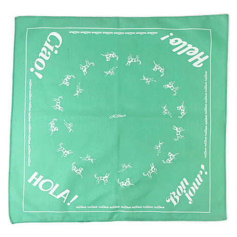 Milltown Brand - Multilingual 'Hello!' Dog Bandana - Mint - ShopFawU