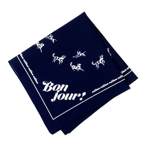 Milltown Brand - Multilingual 'Hello!' Dog Bandana - Navy - ShopFawU
