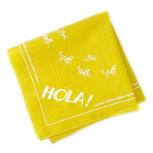 Milltown Brand - Multilingual 'Hello!' Dog Bandana - Yellow - ShopFawU