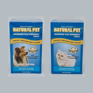 Natural Pet Mushroom Plus Deodorant Tablet - ShopFawU