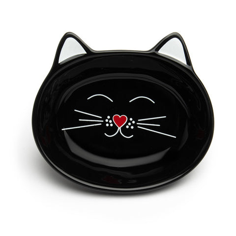 Park Life Designs - Oscar Cat Dish - Black - ShopFawU