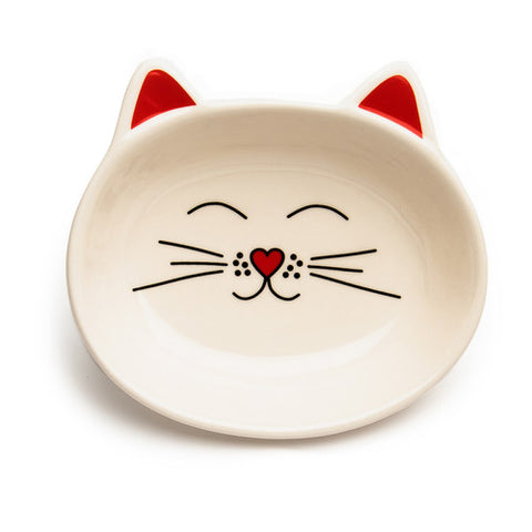Park Life Designs - Oscar Cat Dish - Cream - ShopFawU