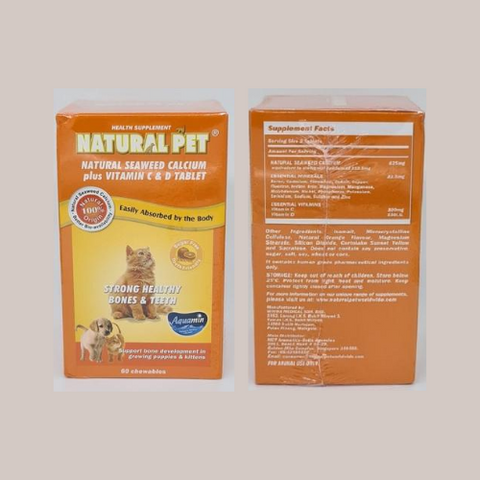 Natural Pet Natural Seaweed Calcium + Vitamin C and D tablet - ShopFawU