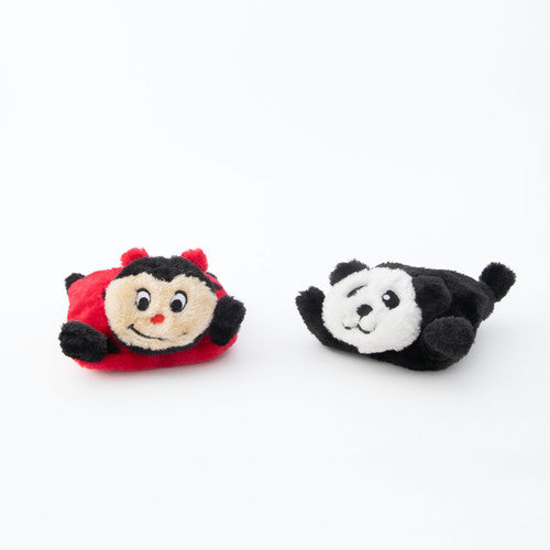 ZippyPaws Squeakie Pads - Ladybug and Panda - ShopFawU