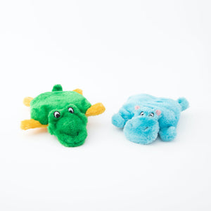 ZippyPaws Squeakie Pads - Hippo and Alligator - ShopFawU