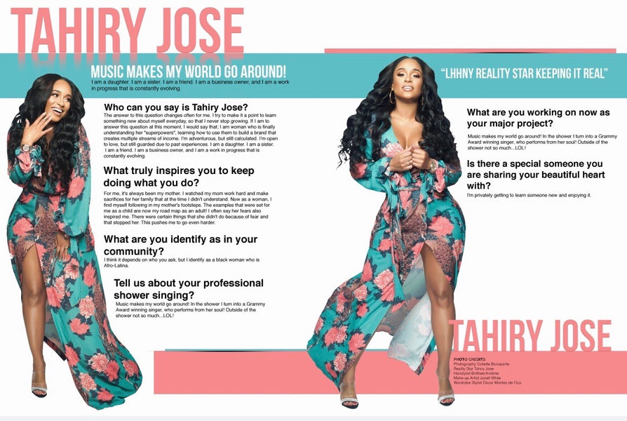 Tahiry Jose Featured Reality Show Star ( Fall 2018)