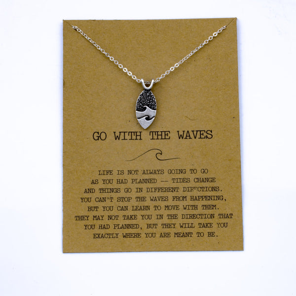 Go With the Waves Necklace ocean jewelry