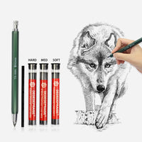 Mechanical Charcoal Pencil For Sketch Painting Drawing Automatic Pencil 4mm