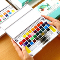 12/24/36Colors Bright Solid Water Color Set Portable Drawing Set
