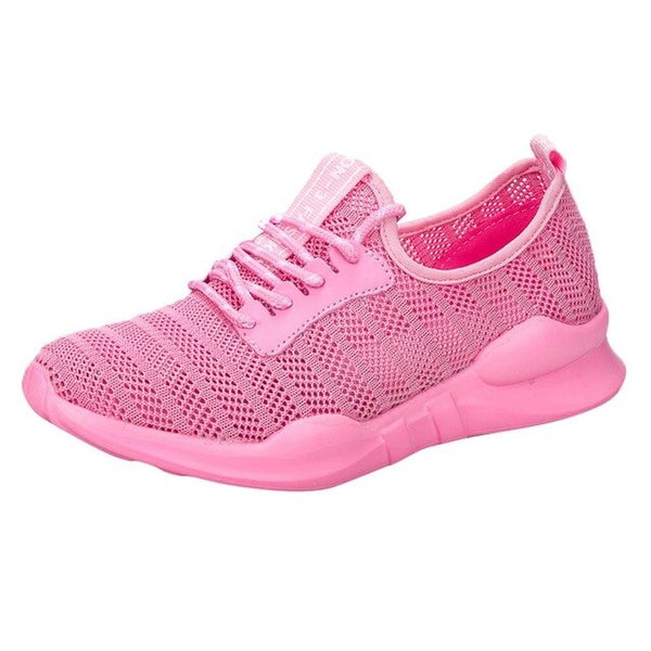 Woman sports shoes summer lace up breathable casual sneakers