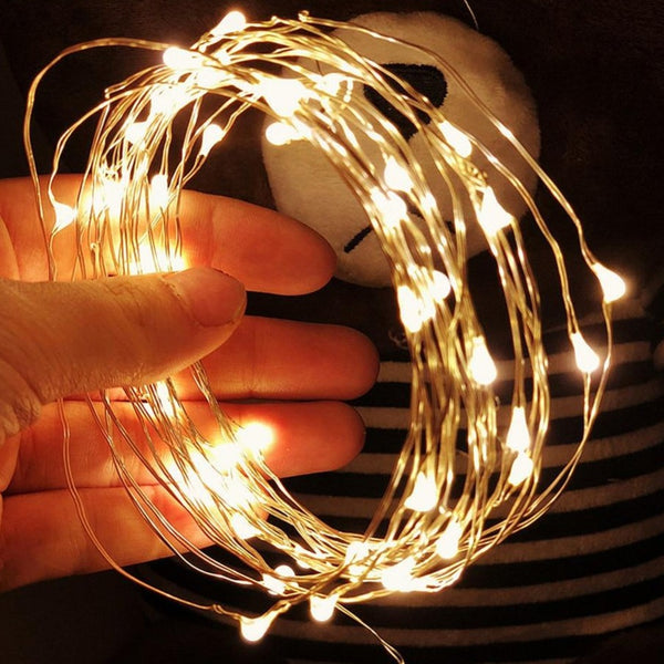 2M 3M 5M 10M Outdoor LED String lights Holiday New Year Fairy Garland