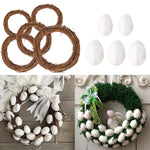 Easter Decoration Natural Rattan Wreath For Easter Egg Decor Kids Easter Party Favors