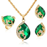 Amazing Price jewelry sets african bridal gold color necklace earrings Ring wedding crystal