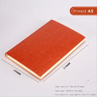 A5 A6 B5 three sizes 4 styles 5 colors large business diary leather soft copy notebook increase
