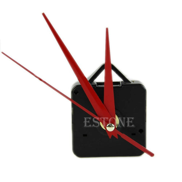 Rictons -  Hanging Wall Clock Mechanism with Red Hands