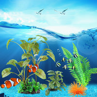 Artificial Aquarium Landscape Submarine Flower Plant Decoration Fish Tank Submersible