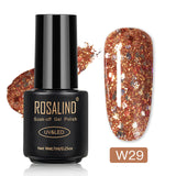 ROSALIND Hybrid Varnish Diamond Glitter Nail Gel Polish UV Lamp Soak Off Led UV Gel