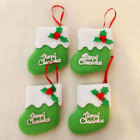8*8cm Merry Christams Stockings Candy Bag Stocking Hanging Tree Decoration