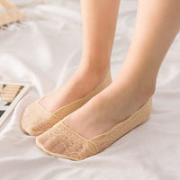SPRING summer Low Cut girl Boat Socks Anti-skid women Invisible sock