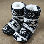 Winter Slippers Women Warm House Slippers Plush Christmas Cotton Indoor Shoes