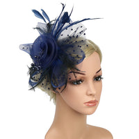 Women Hair Clip Feather Wedding Casual Fascinator Great Gatsby Headband