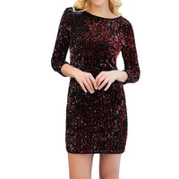 Womens Sequin Dress Glitter Bodycon Dress