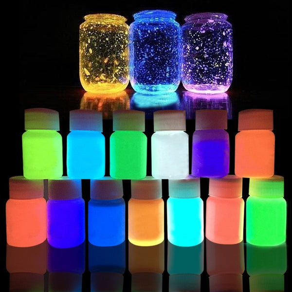 13 Colors Acrylic Paint Glow in the Dark gold Glowing paint Luminous Pigment
