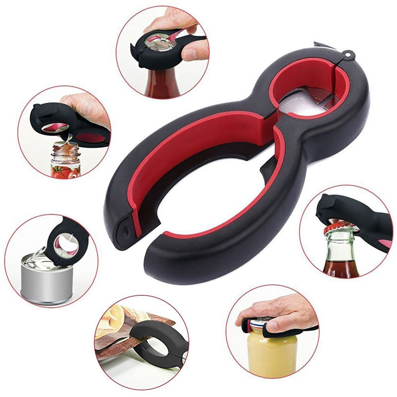Multi Function Twist Bottle Opener,
