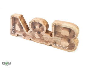 Couple's Personalized Piggy Bank, Wood Letter Money Bank,  Wedding Gift, Piggy Bank Gift for Couple, Coin Bank Anniversary Gifts