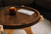 Load image into Gallery viewer, Stylish coffee table, Oval wooden table, Designer coffee table, Home décor, Laptop table, Style your living room