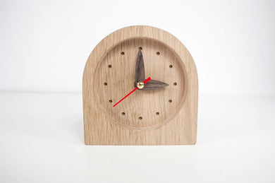 Desk Clock, Wood Clock, Wooden Clock, Birthday Gift For Him, 1 Year Anniversary Gift For Him, 30th Birthday For Him, 30th Birthday For Her