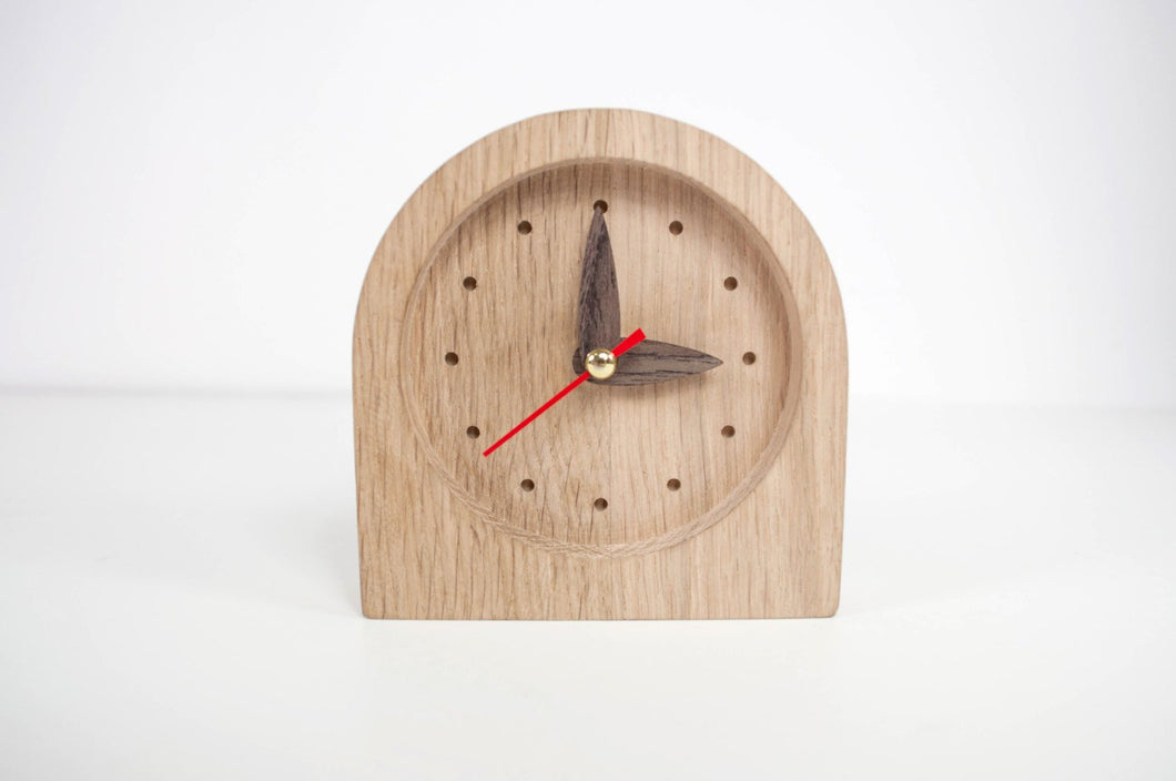 Desk Clock, Wood Clock, Birthday Gift For Him, 1 Year Anniversary Gift For Him