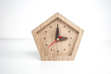 Wooden Clock, Small Clock, Desk Clock, Table Clock, Wood Clock