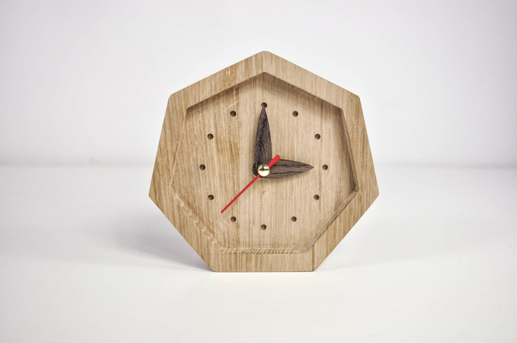 Wooden Desk Clock, Farmhouse Clock, Best Friend Christmas Gift, Office Desk Accessories
