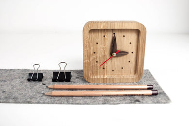 Wooden Clock, Desk Clock,  Gift for Father, Gift for Boyfriend, Gift for Dad, Gift for Husband
