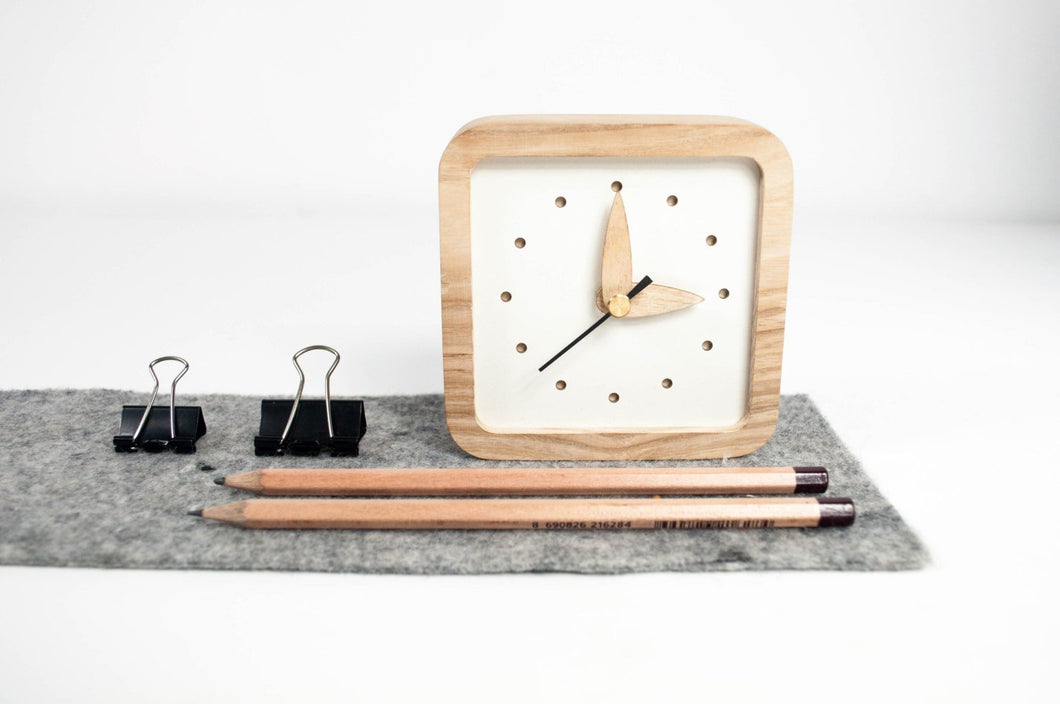 Desk wood Clock, Rustic clock, Desk Clocks Gifts, Table Clock, Desk Gift For Her, Desk Gift Wooden