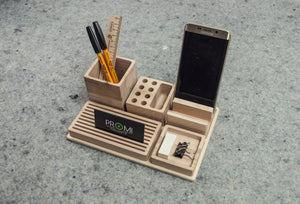 Handmade oak desk organizer - Christmas gift for grandfather - Christmas gift idea