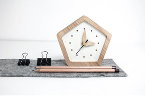 Desk Clock, Small Clock, Silent Clock, Table Clock, Wooden Clock, Wood Clock, Nightstand Clock, Bedside Clock, Gift for Father, Gift for Him