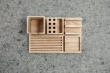 Load image into Gallery viewer, Build your own desk organizer, Wooden organizer, A complete set for your desk, Organize your office desk