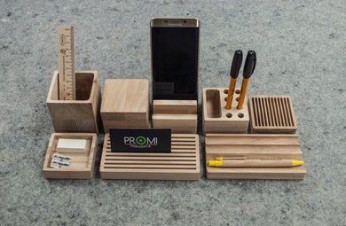 Build your own desk organizer, Wooden organizer, A complete set for your desk, Organize your office desk